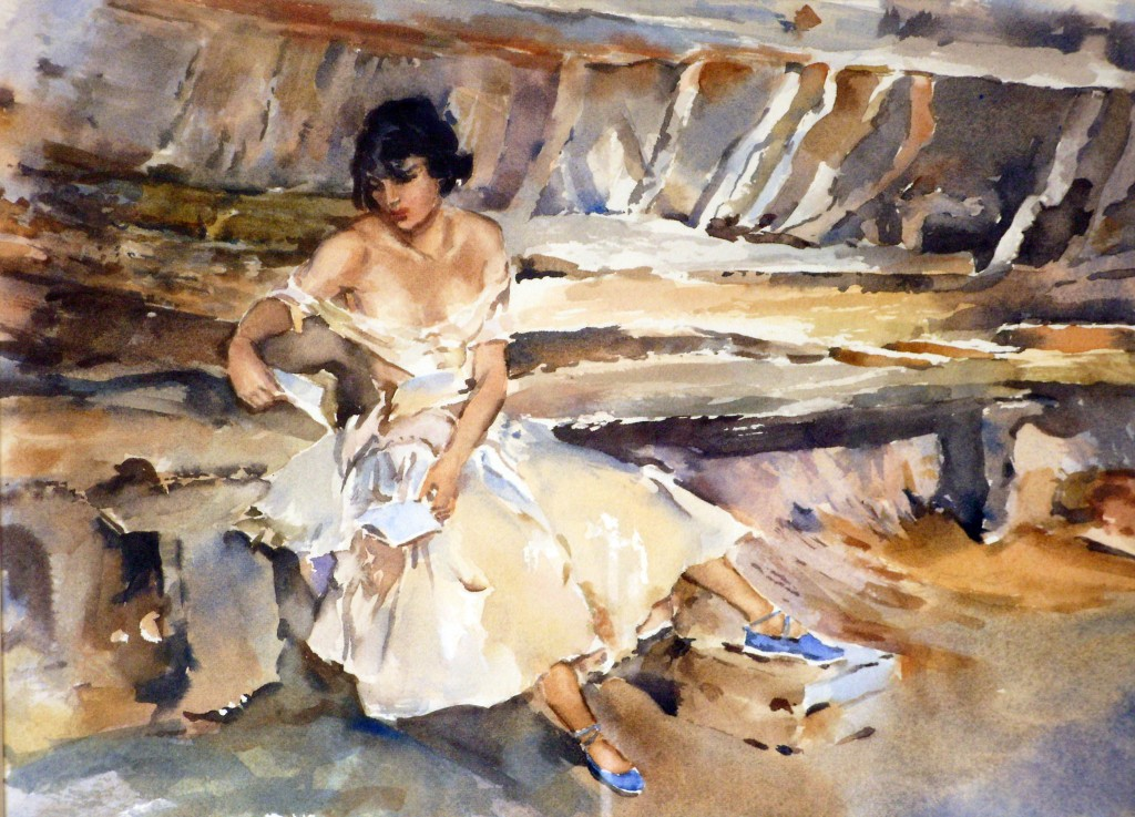 watercolour technique of Sir William Russell Flint